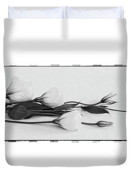 White Lisianthus  Duvet Cover