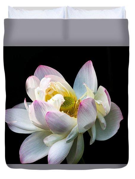 White Lotus Duvet Cover