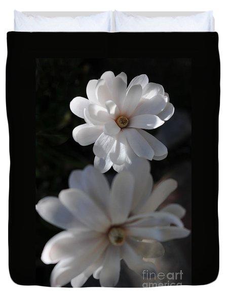 White Magnolia Duvet Cover by Haleh Mahbod