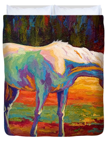 White Mare II Duvet Cover