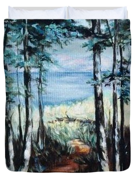 White Mountain Forest Duvet Cover