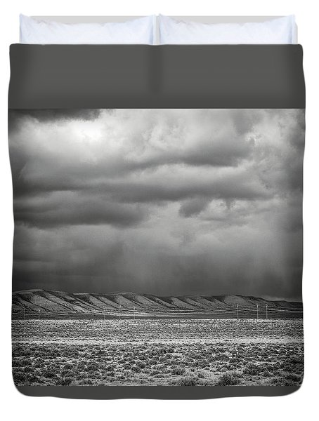 Duvet Cover featuring the photograph White Mountain by Lou Novick