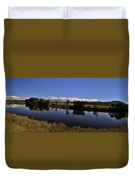 White Mountain Panorama Duvet Cover