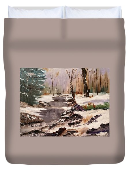 White Mountains Creek Duvet Cover