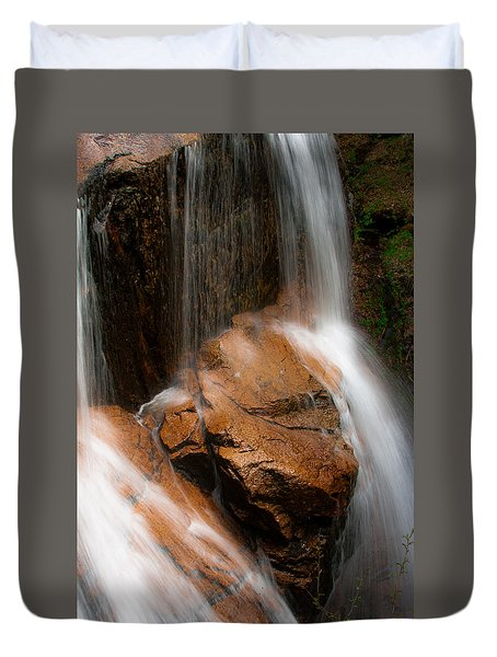 Duvet Cover featuring the photograph White Mountains Waterfall by Jason Moynihan