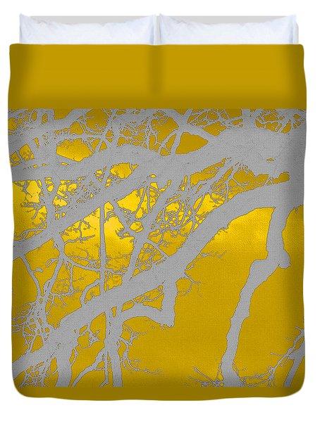 White Oak -yellow Orange Duvet Cover