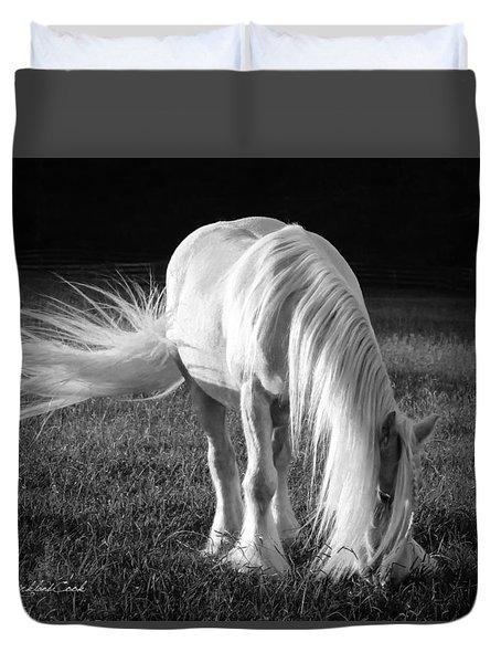 White On Black And White Duvet Cover