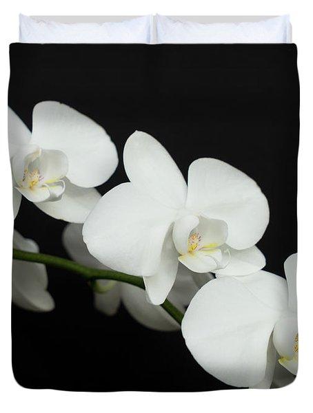 White On Black Duvet Cover