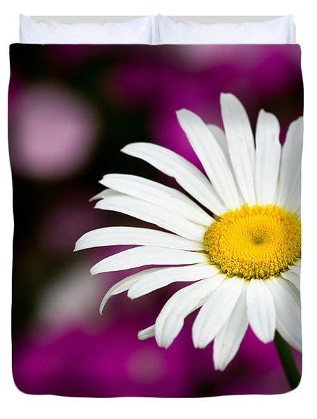 White On Pink Duvet Cover