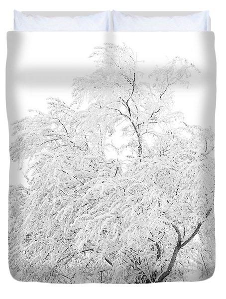 White On White Duvet Cover by Marilyn Hunt