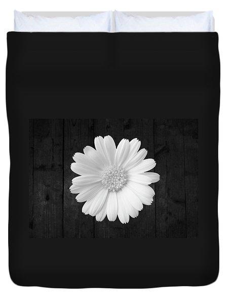 White On Wood Duvet Cover