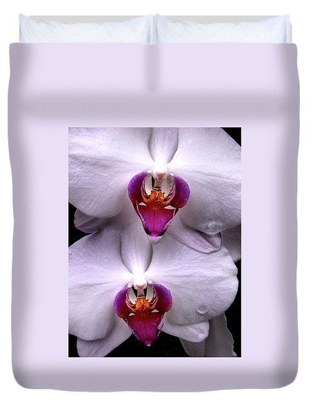 White Orchid Twins Duvet Cover