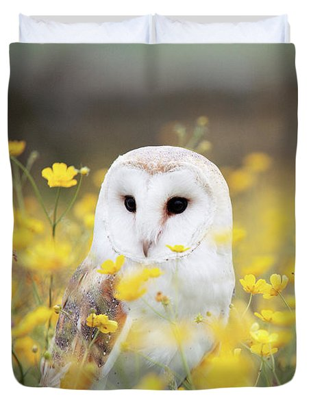 White Owl Duvet Cover