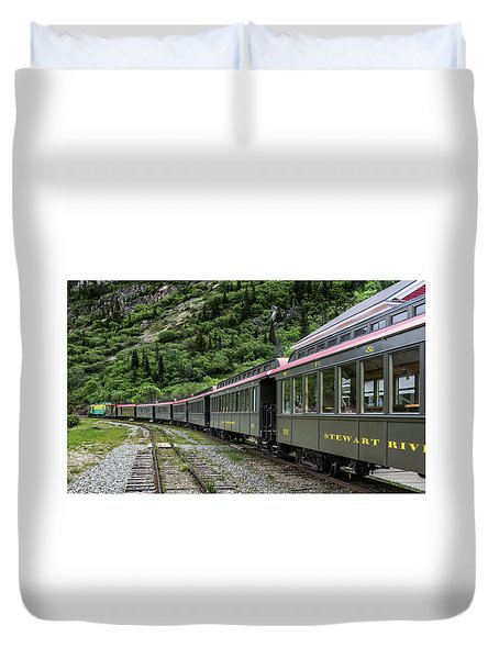 White Pass And Yukon Railway Duvet Cover