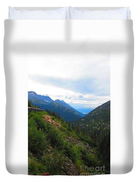 White Pass Rail Road Duvet Cover