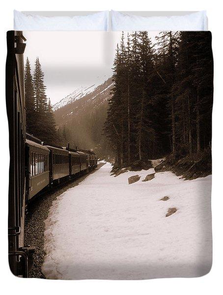 White Pass Railway Duvet Cover by Susan Lafleur