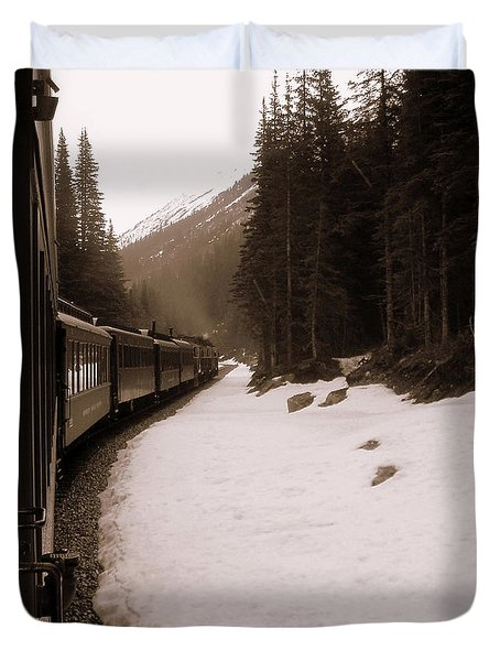 White Pass Railway Duvet Cover