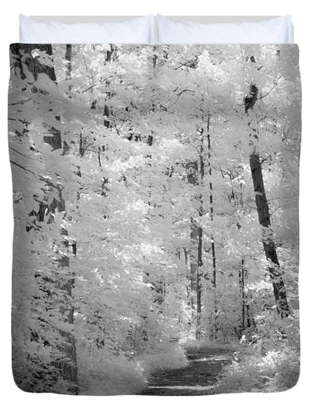 White Path Duvet Cover