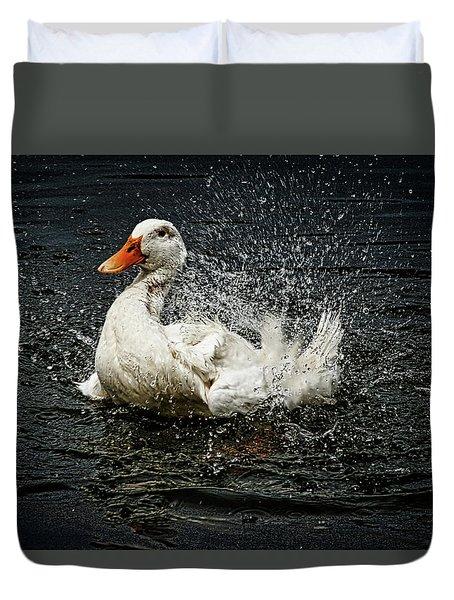 White Pekin Duck Duvet Cover