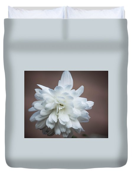 White Petals Duvet Cover