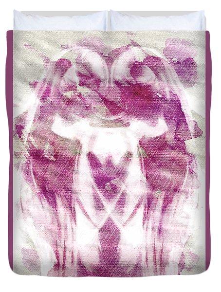 White Pi Flower Duvet Cover