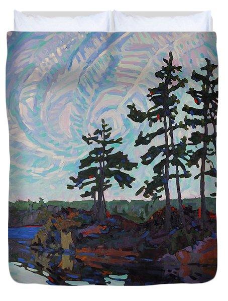 White Pine Island Duvet Cover