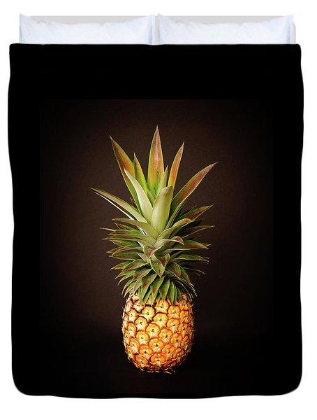 White Pineapple King Duvet Cover
