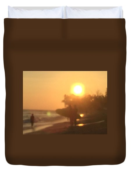 White Plains Beach Duvet Cover