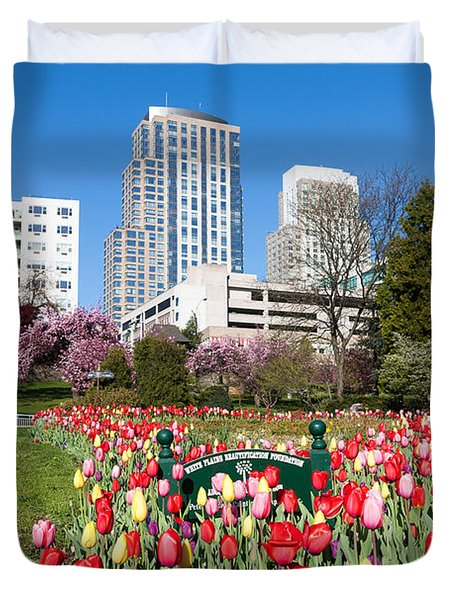 White Plains Beautification Foundation Garden Duvet Cover