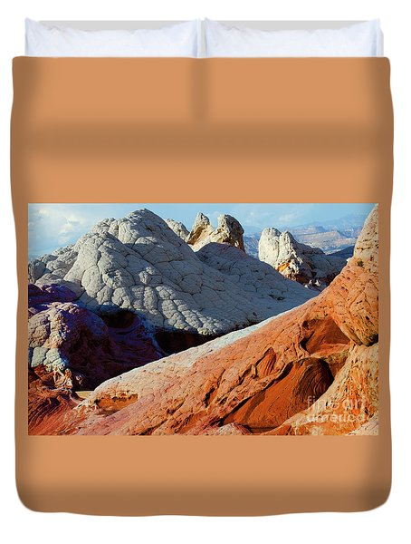 White Pocket 34 Duvet Cover by Bob Christopher