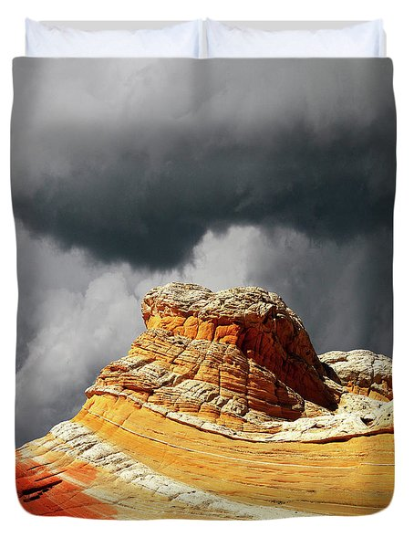 White Pocket 35 Duvet Cover by Bob Christopher