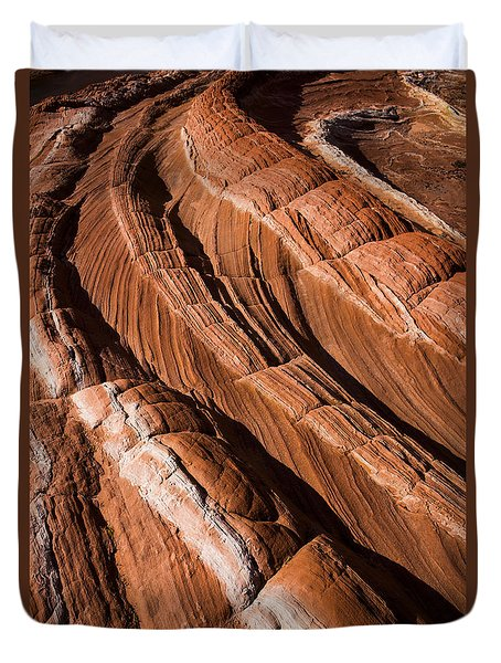 Duvet Cover featuring the photograph White Pocket Arizona by Keith Kapple