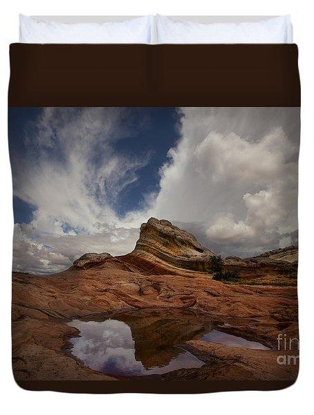 White Pocket Duvet Cover