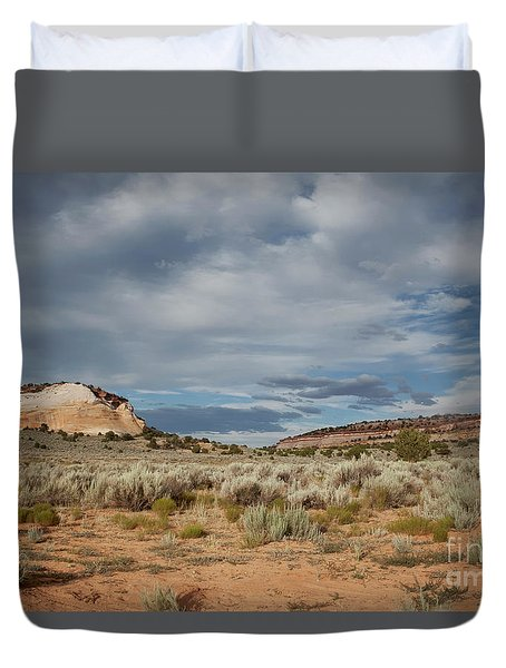 Duvet Cover featuring the photograph White Pocket Meets Vermillion Cliffs by Anne Rodkin