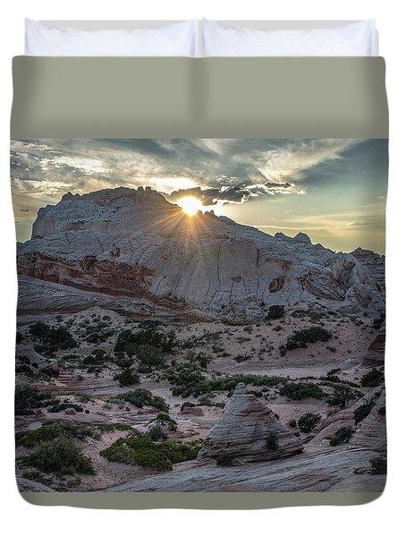 White Pocket Sunset Duvet Cover