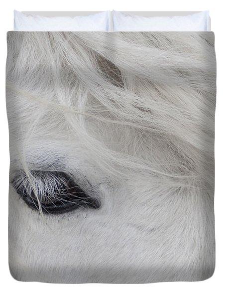 White Pony Duvet Cover