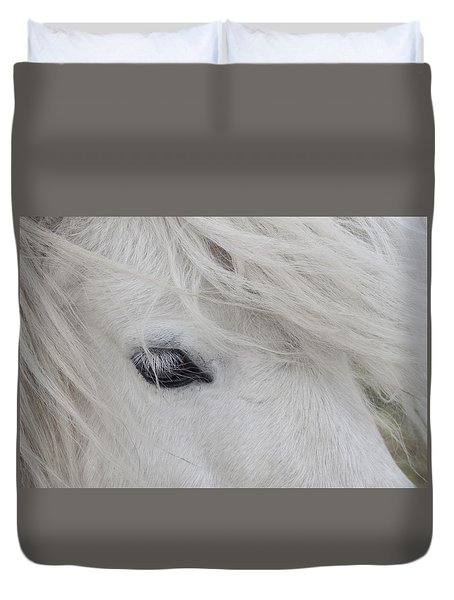 White Pony Duvet Cover