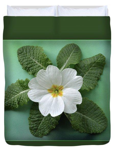White Primrose Duvet Cover by Terence Davis