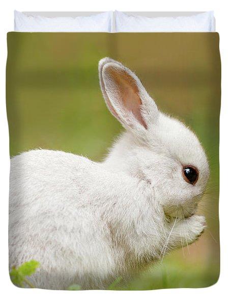 White Rabbit - Cute Overload Duvet Cover