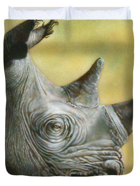 White Rhino Duvet Cover