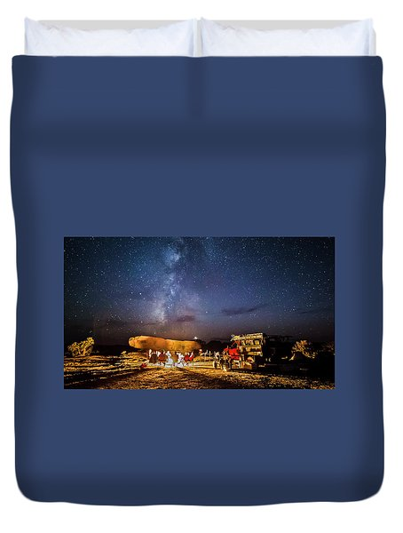 White Rim Camp Duvet Cover
