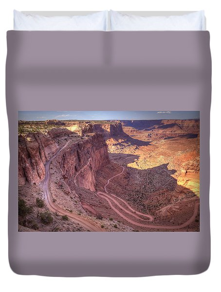 White Rim Road Duvet Cover