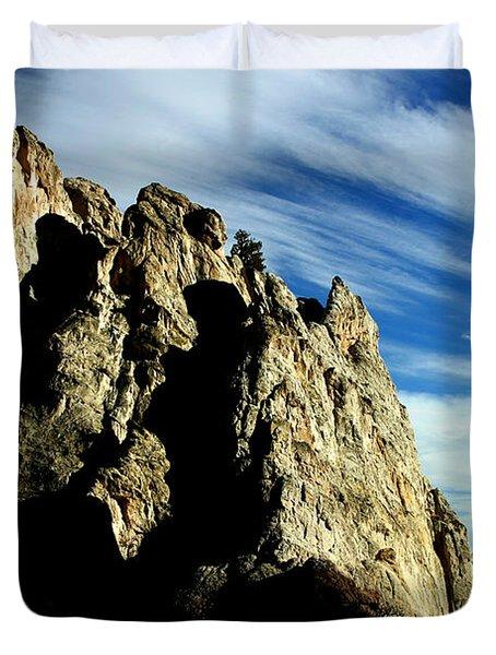 White Rocks Duvet Cover by Anthony Jones