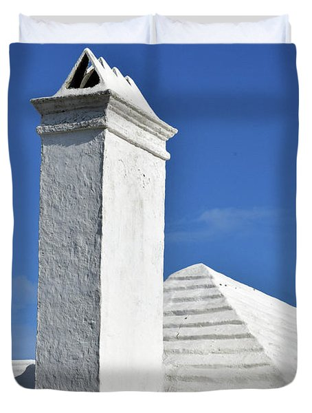 White Roof No. 6-1 Duvet Cover