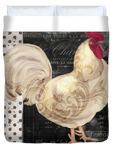 White Rooster Cafe I Duvet Cover by Mindy Sommers