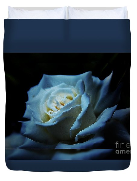 White Rose 2 Duvet Cover by Elaine Hunter