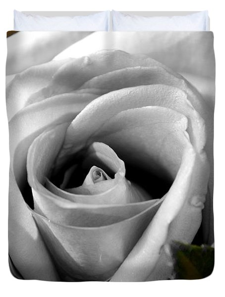 Duvet Cover featuring the photograph White Rose 2 by Richard Ricci