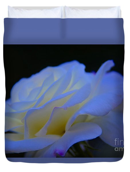 White Rose Duvet Cover by Elaine Hunter