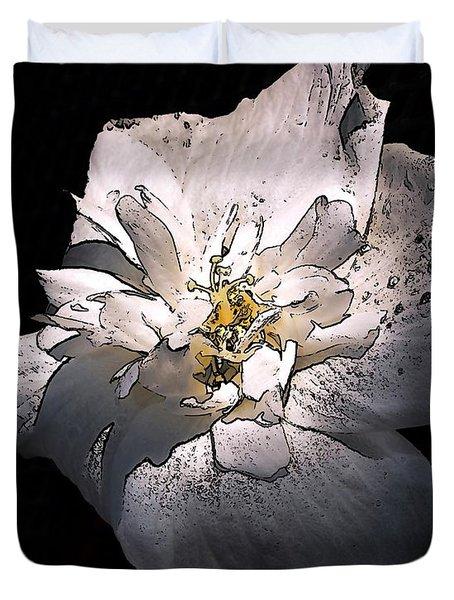 White Rose Of Sharon Duvet Cover