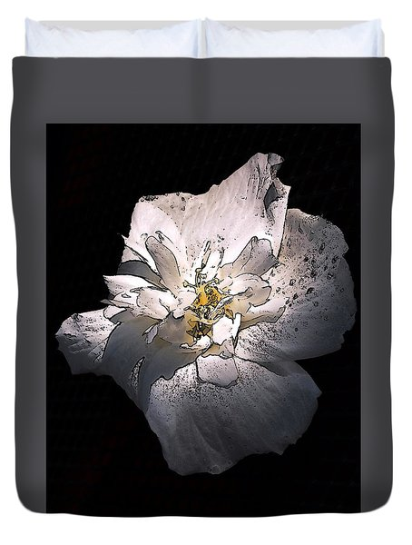 Duvet Cover featuring the photograph White Rose Of Sharon by Richard Ricci